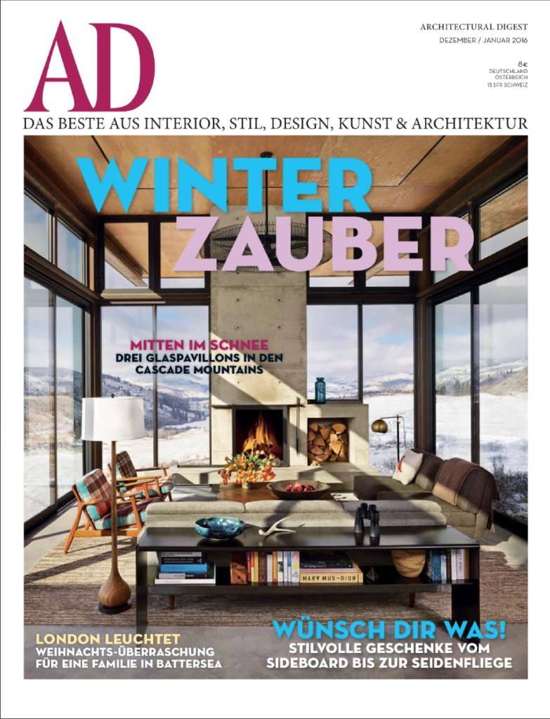 Paul Evans Argente Studio Cabinet from The Exchange Int featured in Architectural Digest Germany