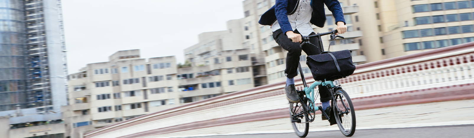Brompton bikes are perfect for commuting.