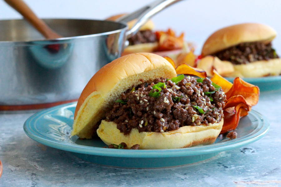 Plum-Chili Sloppy Joes