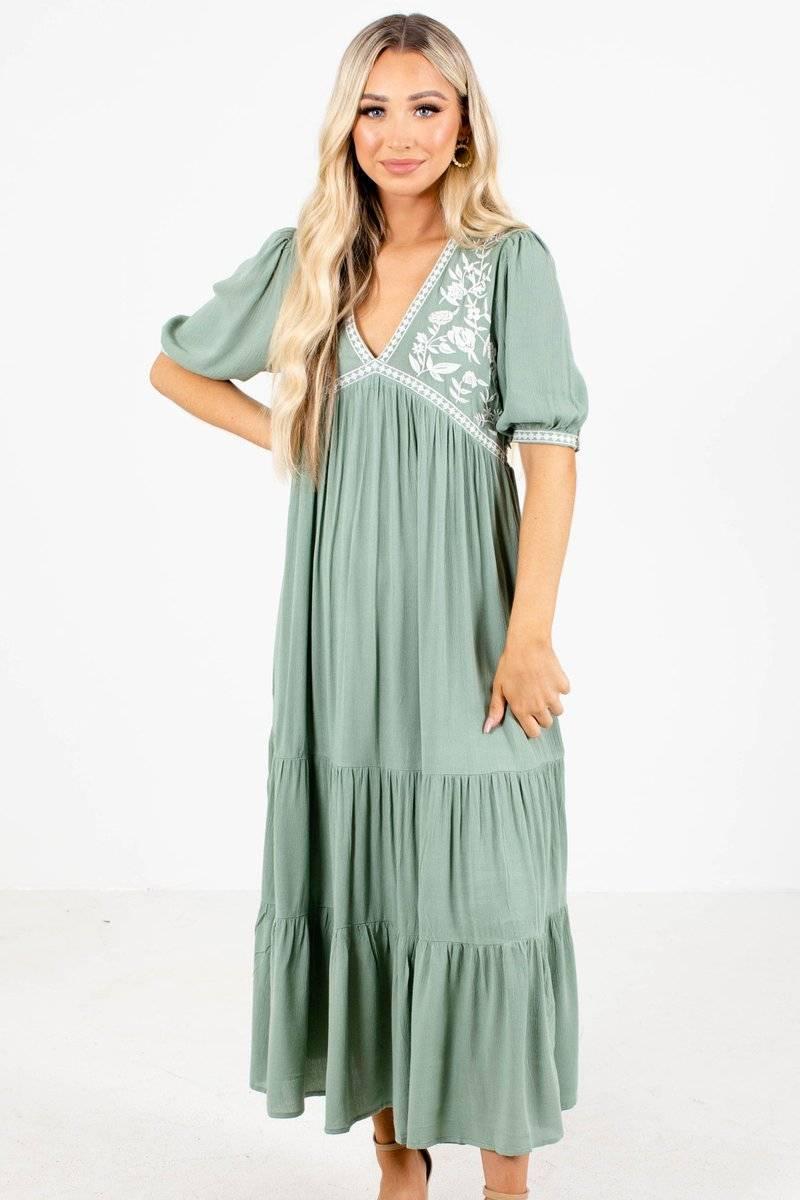 Women's Green Maxi Dress