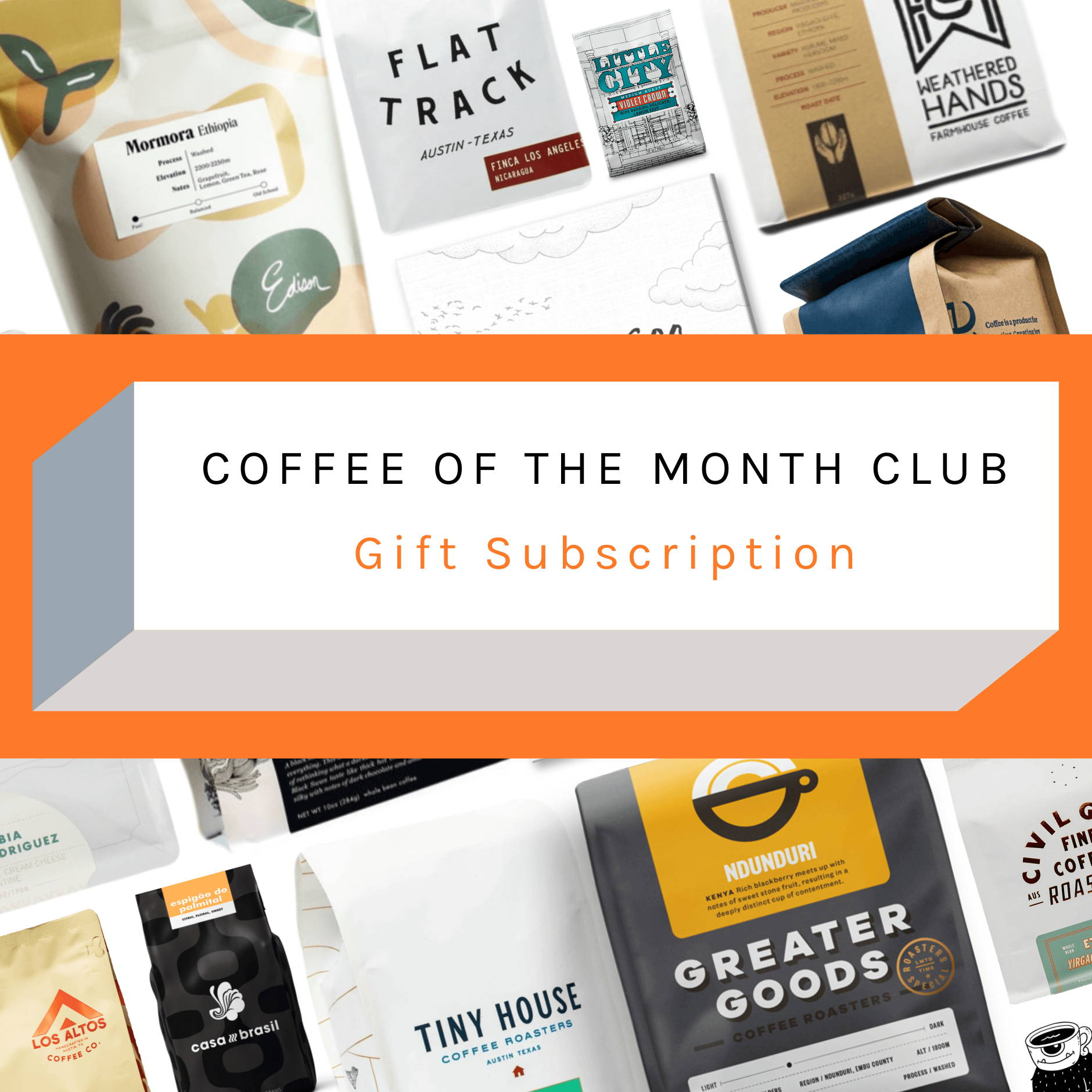 Creature Coffee Co - Present - Gift - Coffee Gift - Best Gift - Texas Coffee Roasters - Texas Coffee - creature coffee subscription - texas coffee subscription - buy coffee beans - buy gift coffee subscription - coffee of the month - buy coffee - buy beans - fresh coffee beans - specialty coffee in texas