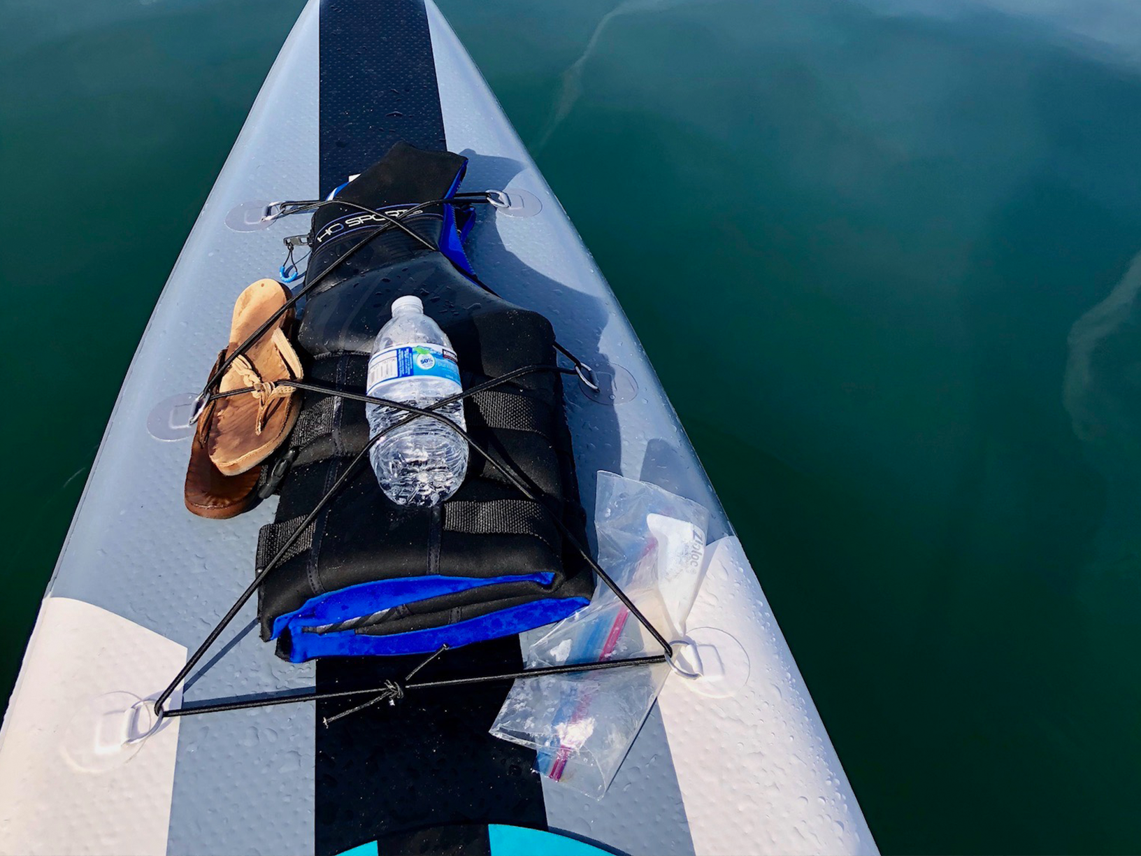 RIGGED OUT cadence air sup with pfd and water bottle