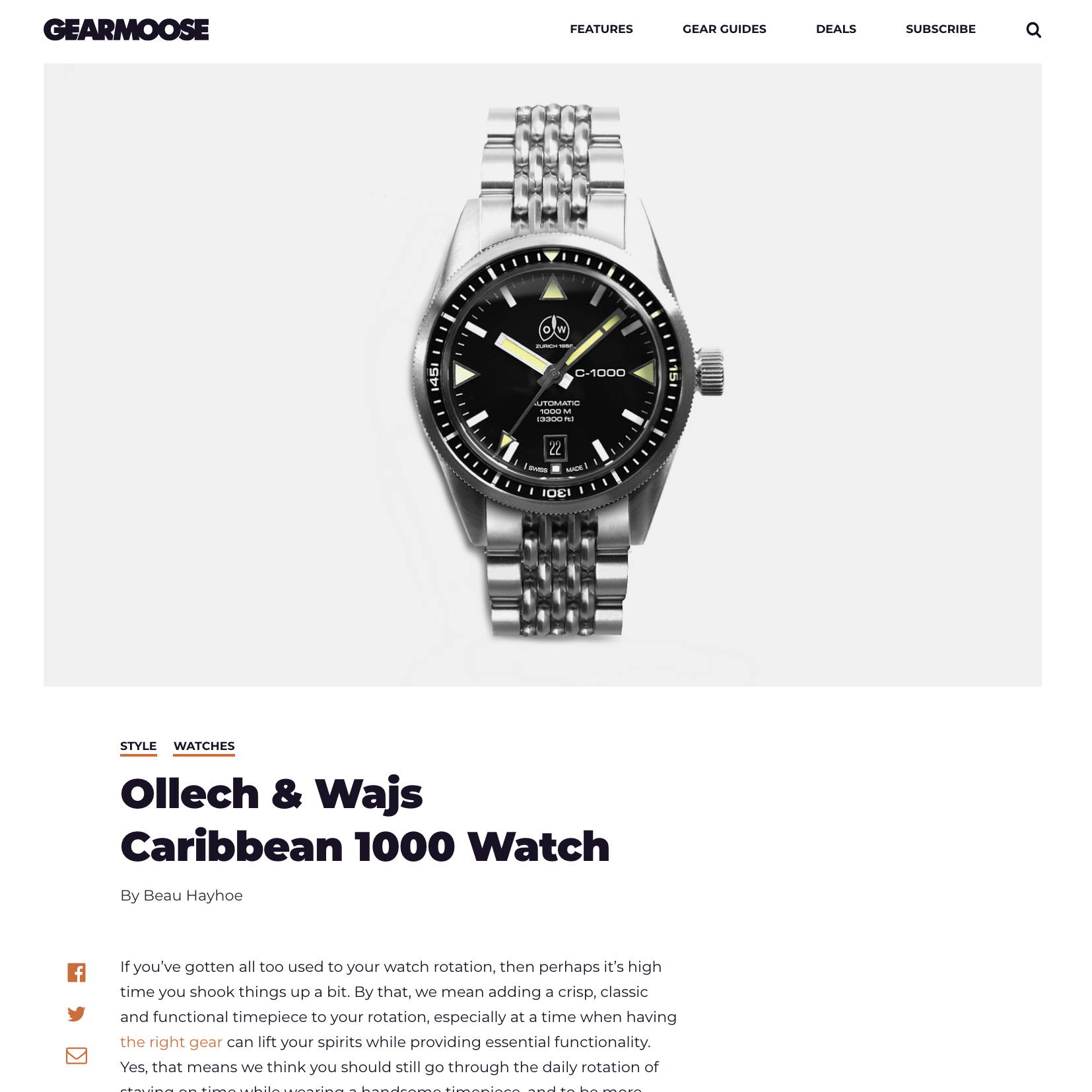 Gear mooose OLLECH & WAJS CARIBBEAN 1000 WATCH