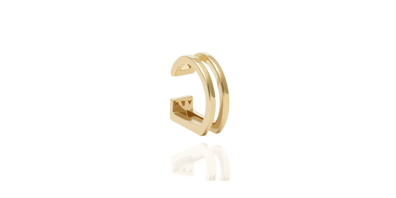 Wishbone Ear cuff in Gold