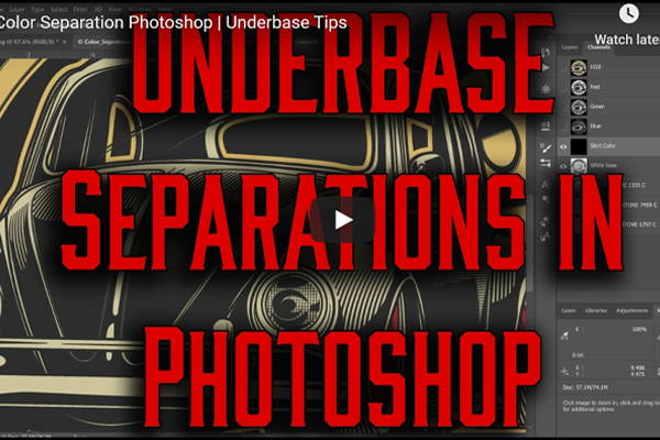 Underbase Color Separation in Photoshop