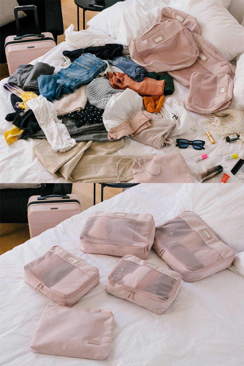 getting ready for a getaway with CALPAK packing cubes