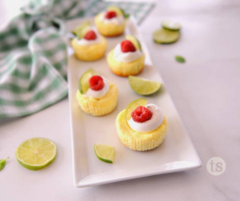 mai tai mini cheesecakes