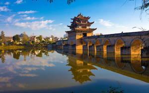 Double Dragon Bridge in Jian Shui