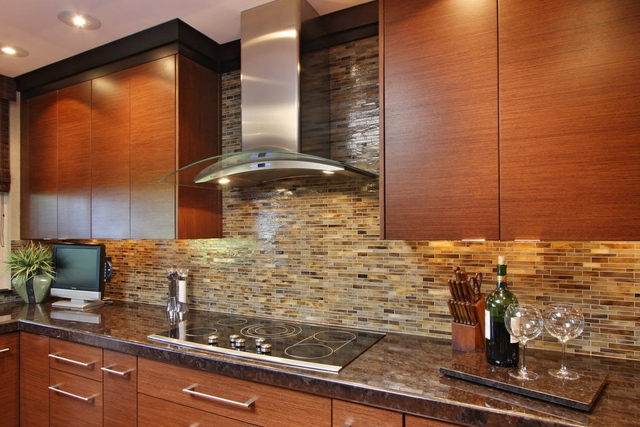 Hirsch glass kitchen backsplash tile