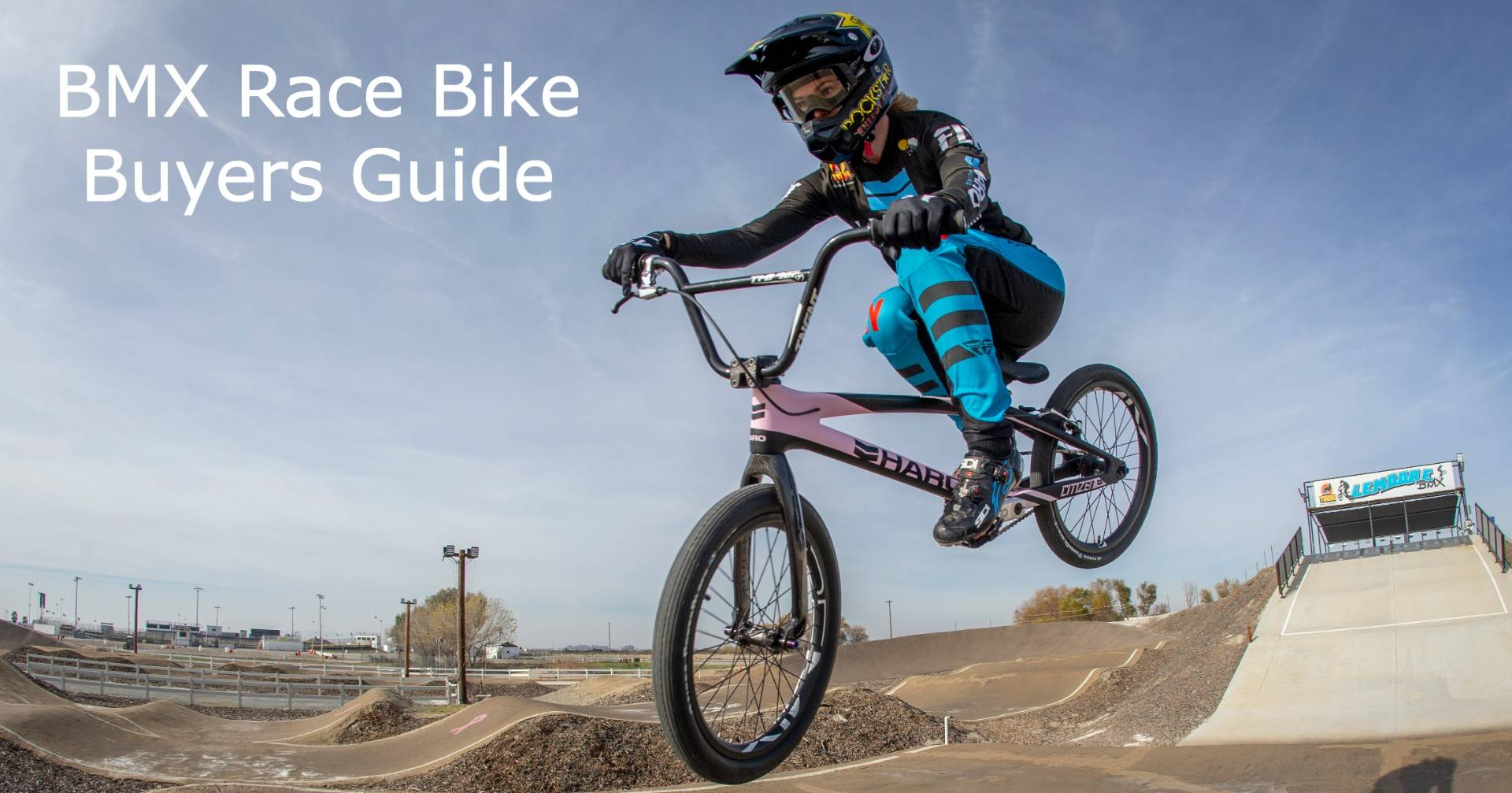 Haro BMX racer Brooke Crain jumping on the BMX Race Bike Size Guide