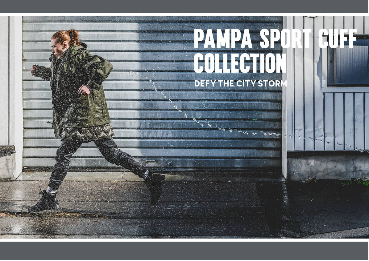 Image shows a woman running wearing Pampa Sport Cuff in Black
