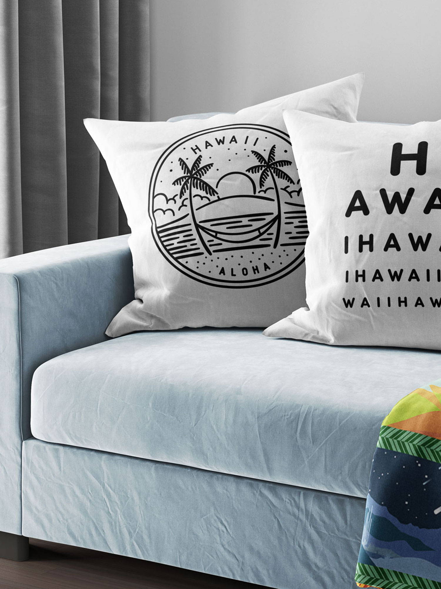 decorative throw pillow cover hawaii state