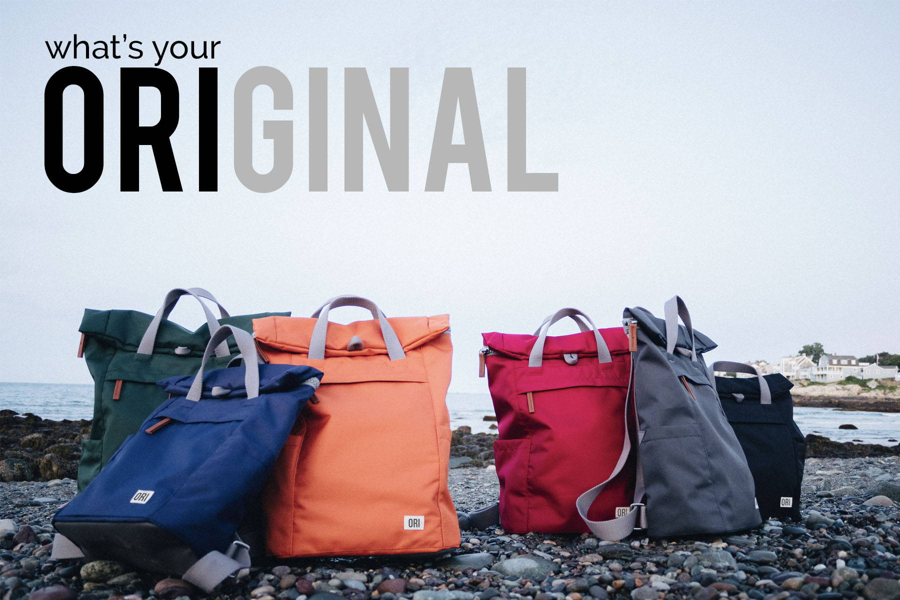 Ori Backpacks and Bags. All Original backpack. Water resistant, fashionable, all purpose bag.