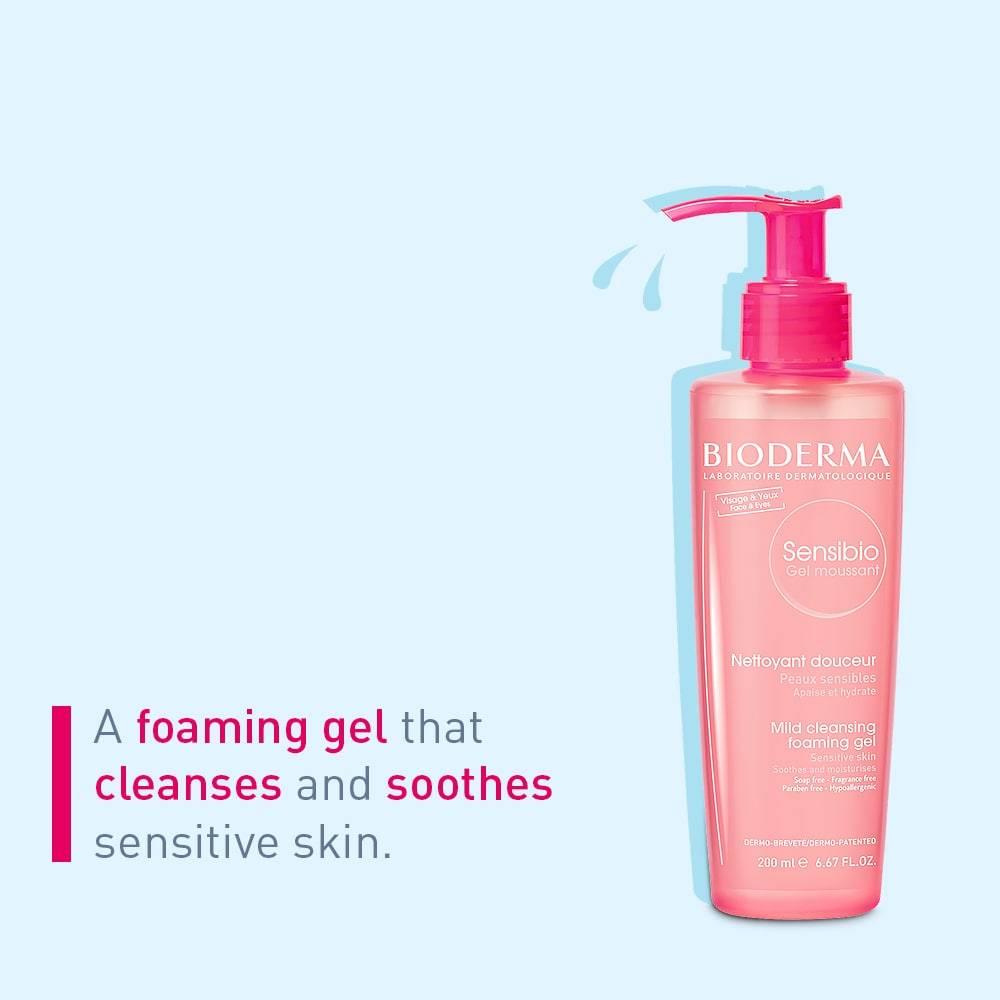 Foaming gel sensitive skin Bioderma