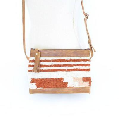 Wool crossbody bag