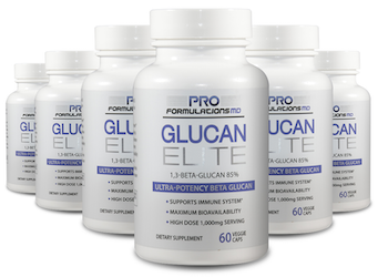 6 bottles of Glucan Elite