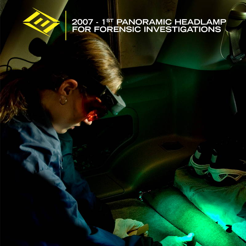FoxFury creates panoramic headlamps for forensic investigations