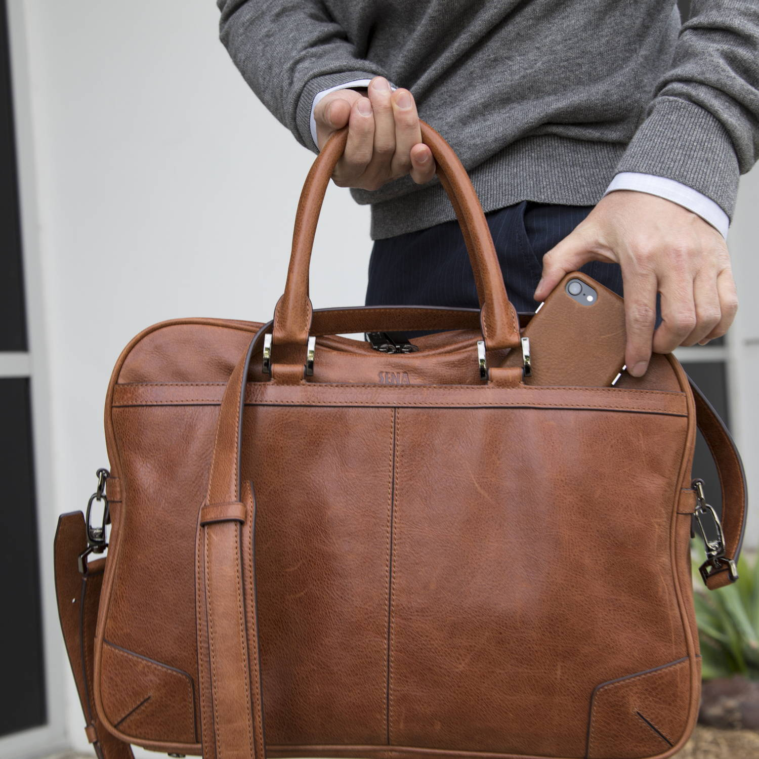 Commuter Bag in Cognac | Sena Cases