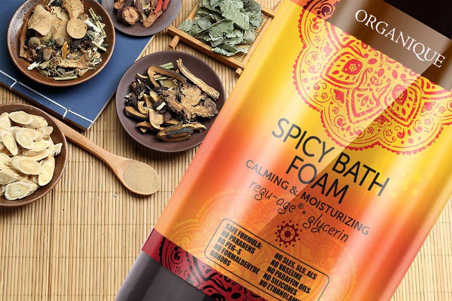 Spicy Bath Foam bottle 200ml bottle from Organique
