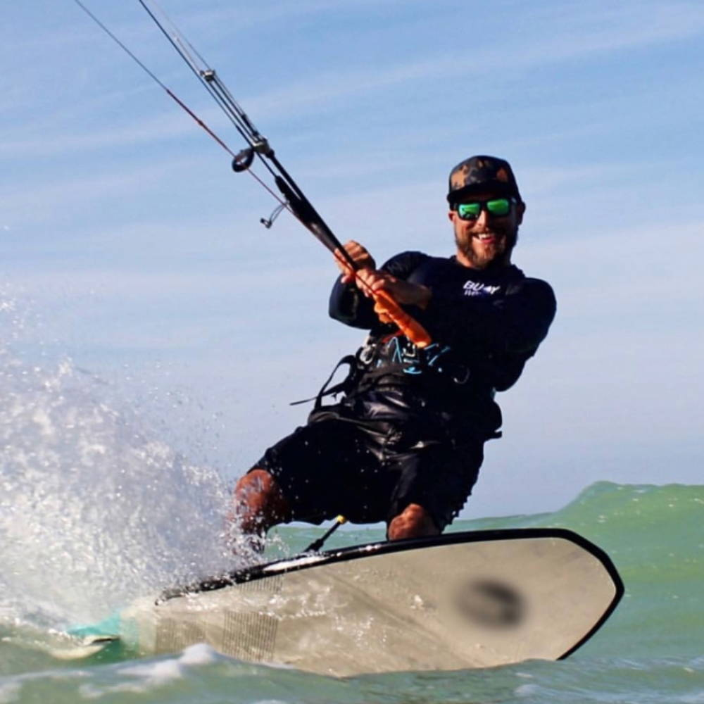 kite surfing floating sunglasses