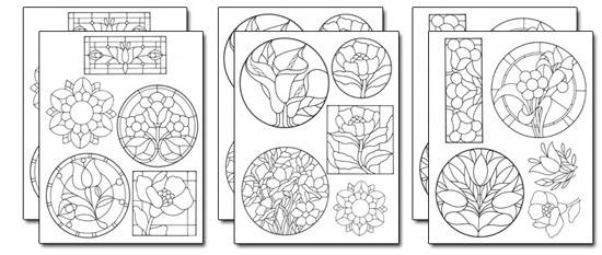 Stick 'n Burn Stained Glass Designs Set 2