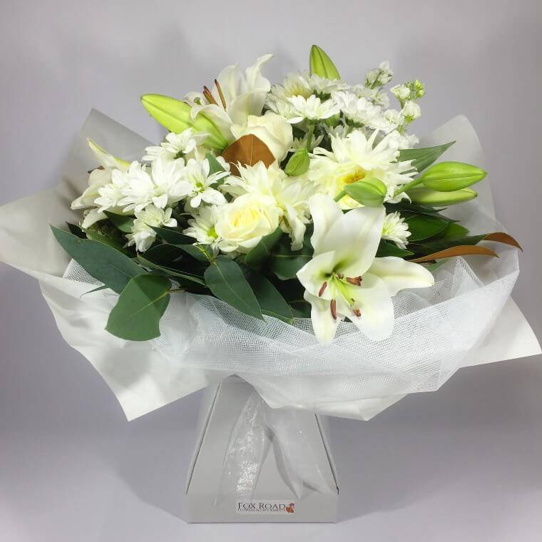 white lilies for sympathy