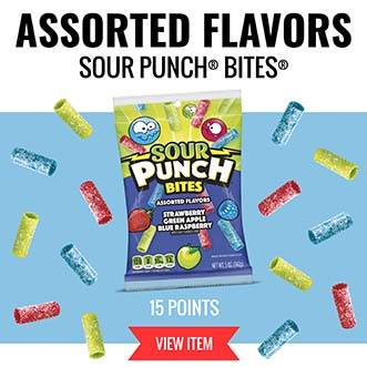 Assorted Flavors Sour Punch Bites - 15 Points VIEW ITEM