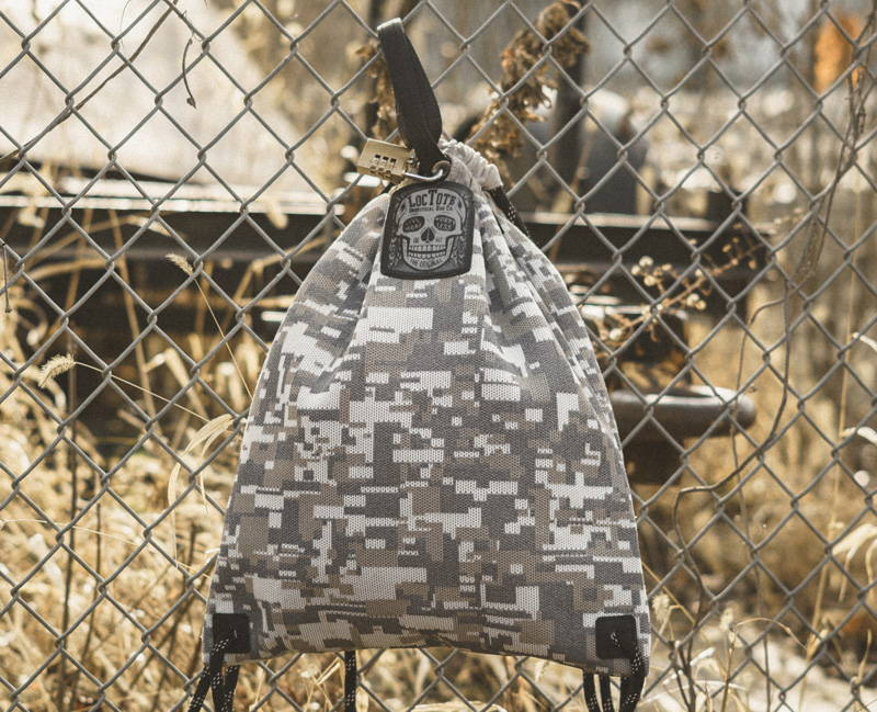 lockable anti-theft drawstring backpack