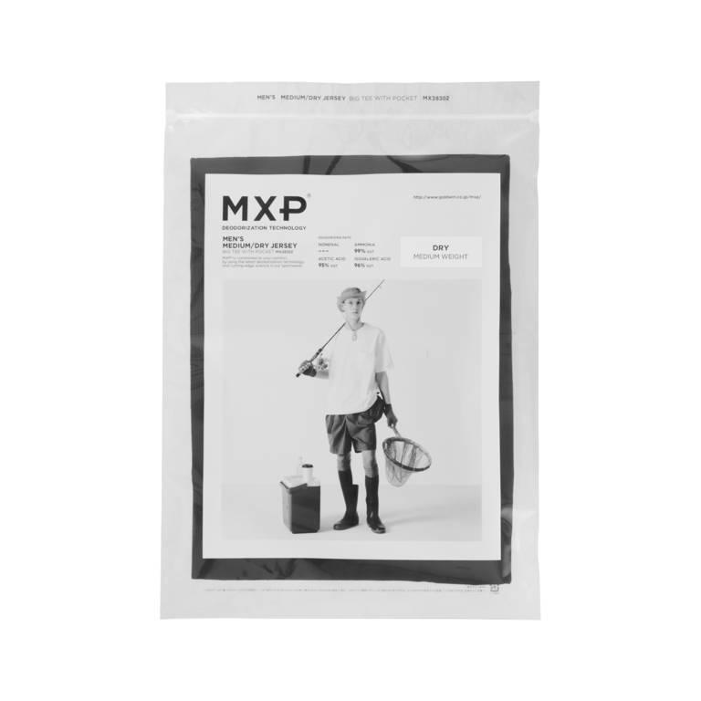 MXP(エムエックスピー)/ビッグティーウィズポケット/ブラック/MENS