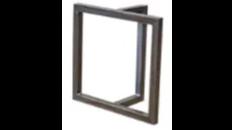 steel cube T table base