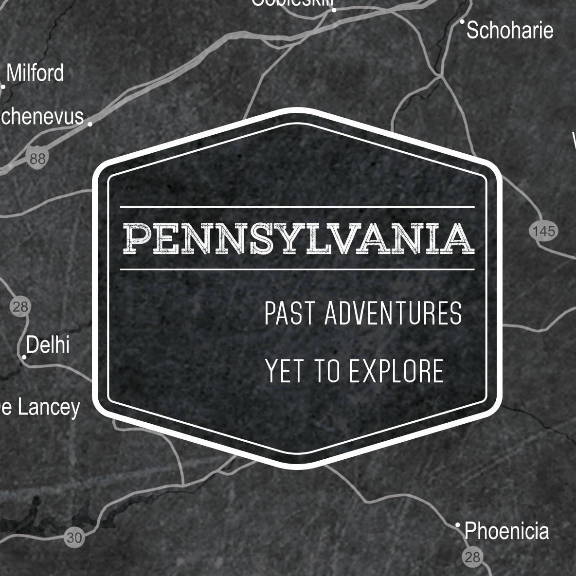 Conquest Maps Modern Slate Pennsylvania Legend
