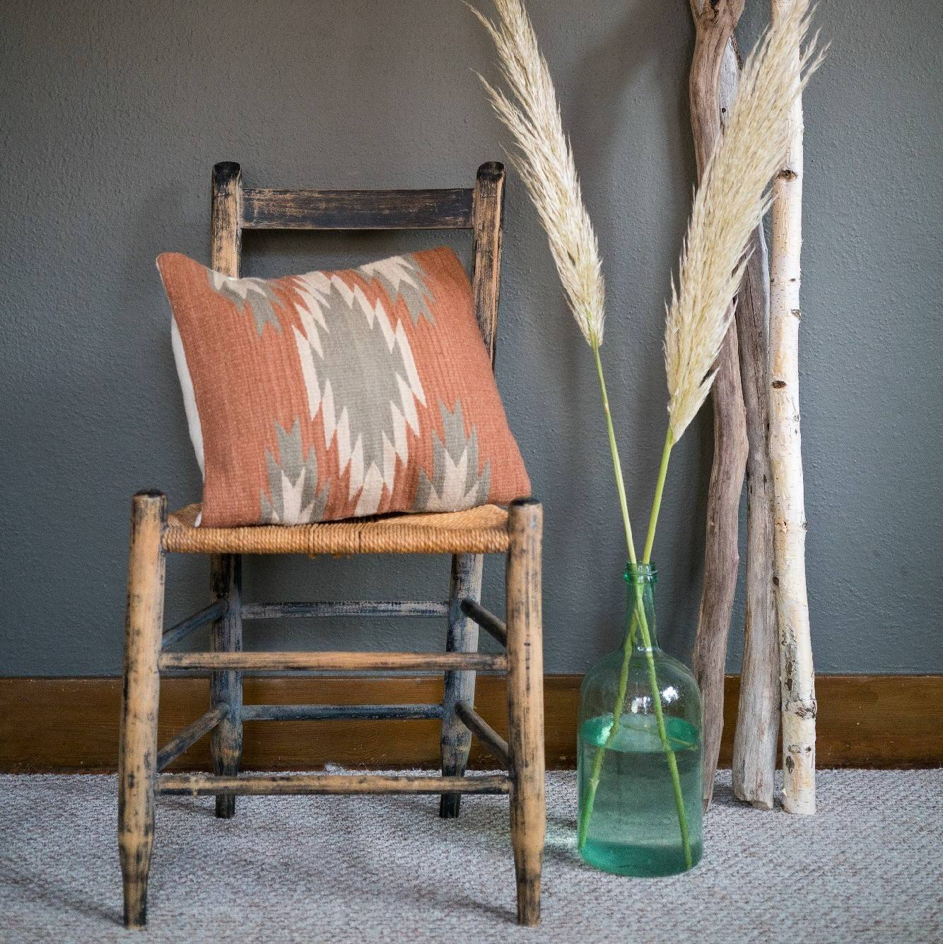 Ochre + Agave PIllow Cover