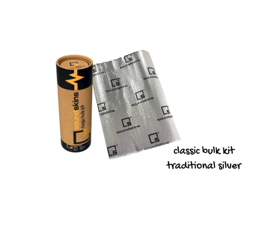 soundskins classic silver sound deadening material