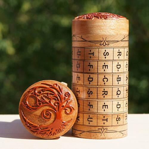 Cryptex Puzzle Ring Box