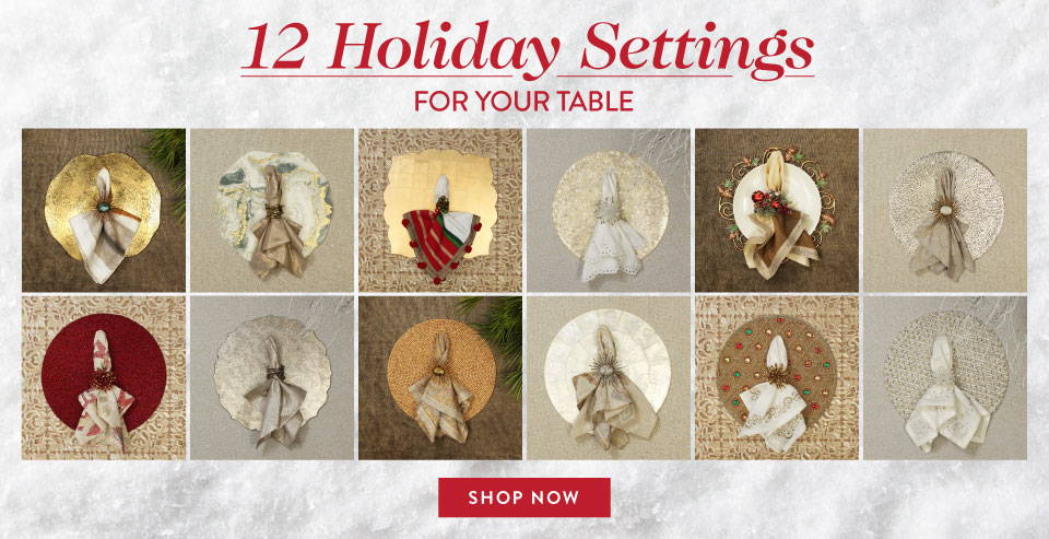 12 Holiday Settings for your Table