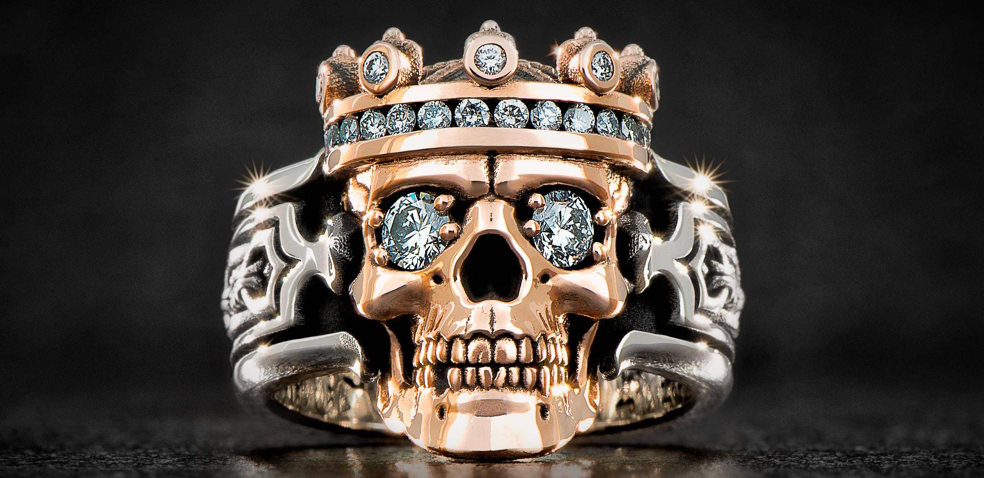 The 14K Jawbone Collection Guardian Ring with Diamonds