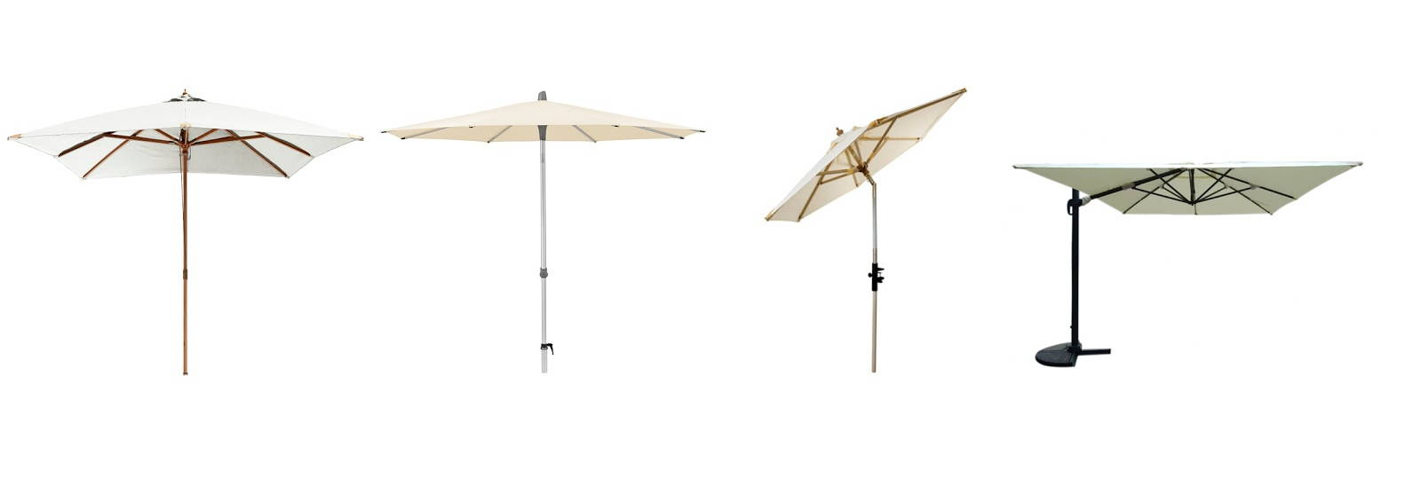 Forskellige typer af parasoller