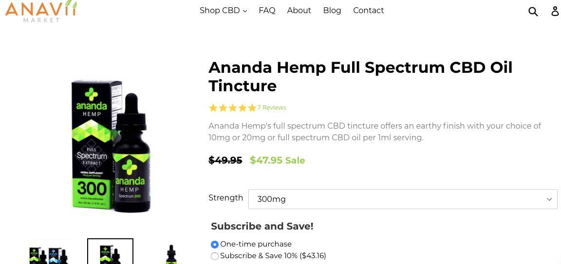 CBD Oil On Amazon? Whole Foods? | Shop Anavii Market