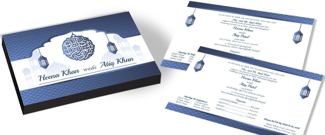 Taj - Islamic Nikah Invitation