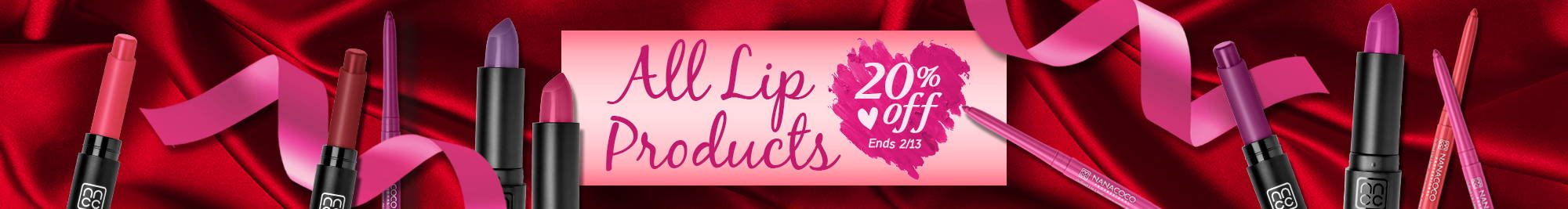 Nanacoco Professional 20% off all lip products