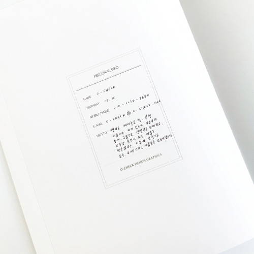 Personal data - O-CHECK 2020 Linen paper A4 dated monthly diary planner