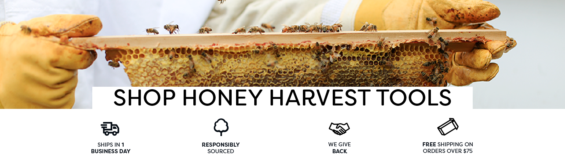 Essential honey harvesting tools for foundationless beekeeping, including strainers, comb stands, solar wax melters, and crush and straining systems. Make harvesting easy!