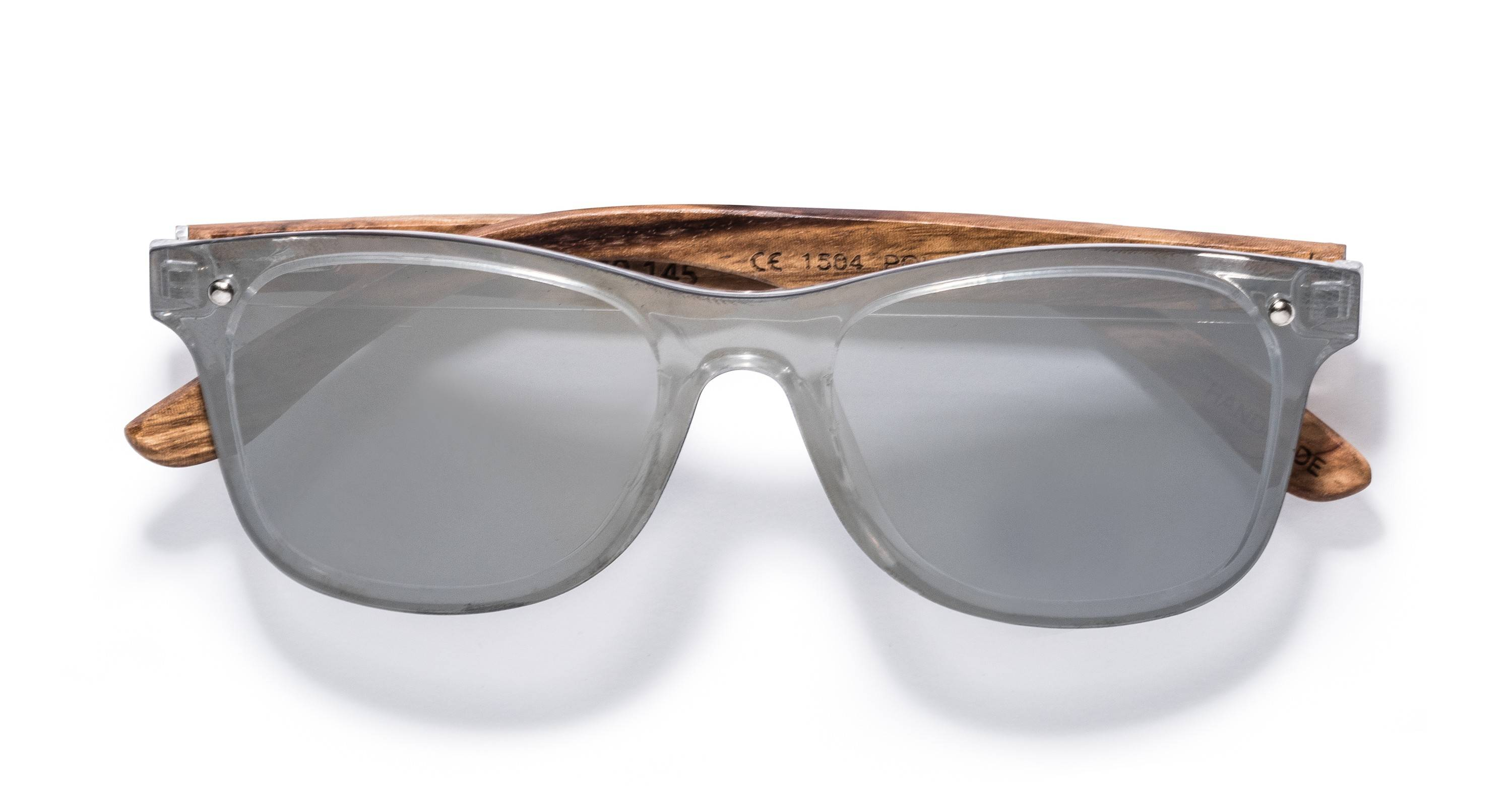 Kraywoods Rover, reflective Sunglasses made from Zebra wood with polarized mirrored lenses