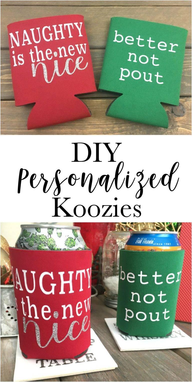 Christmas Koozies.Diy Christmas Gifts With Htv