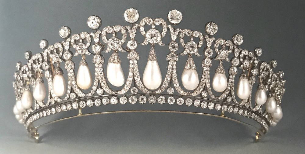 Pearl Tiaras - the Cambridge Lover's Knot