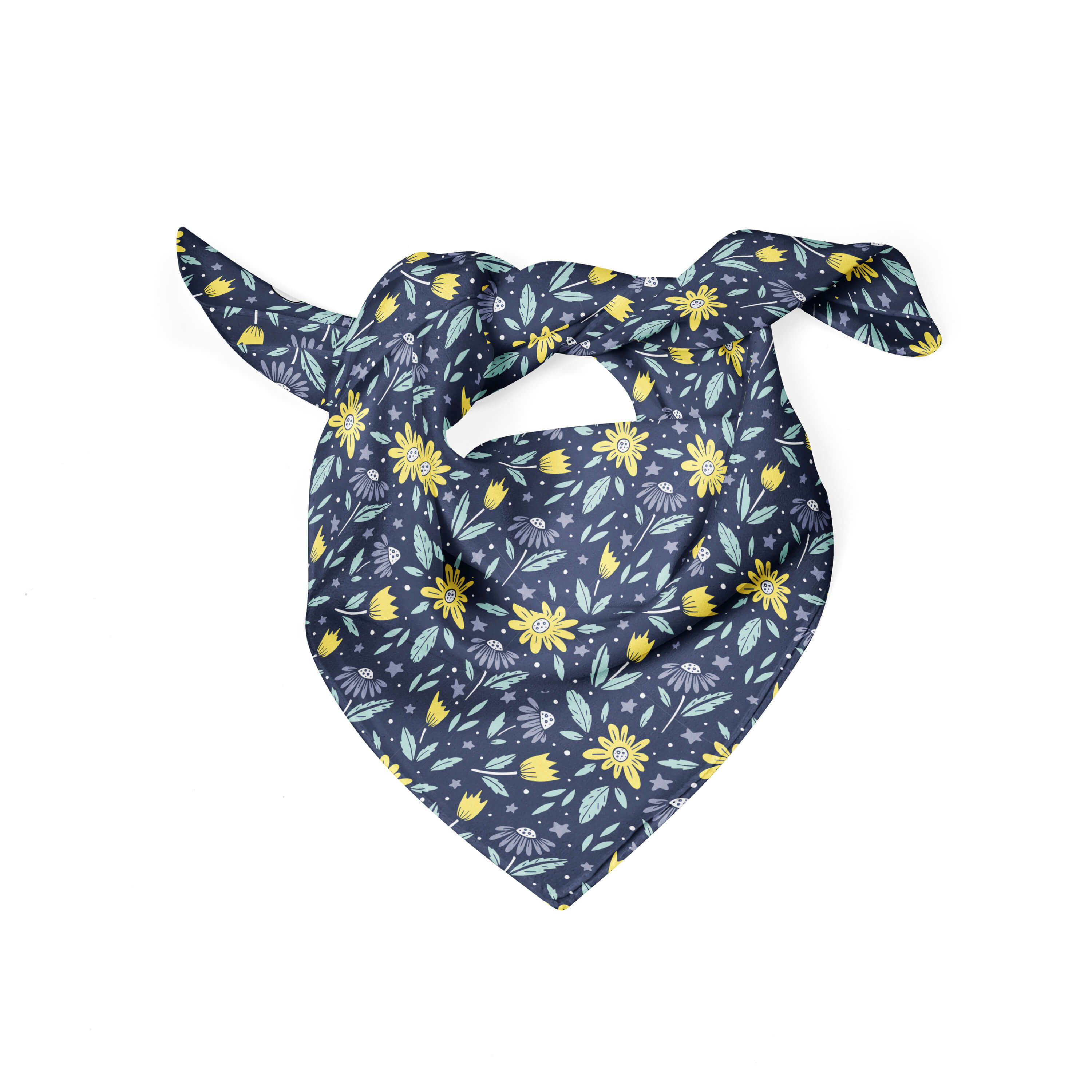 Banana Bandanas Moonflower dog bandana folded photo