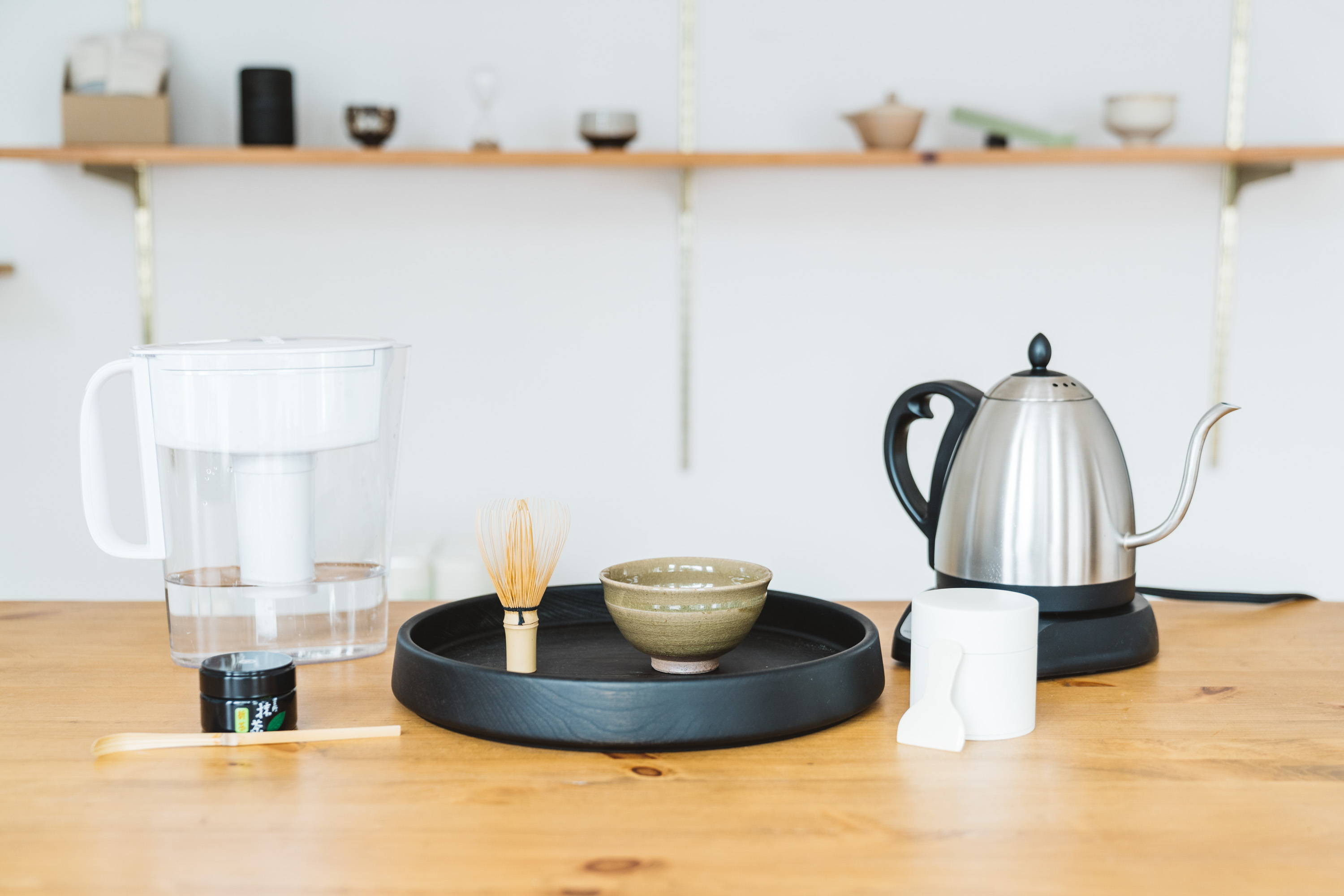 Equipment needed for ceremonial matcha