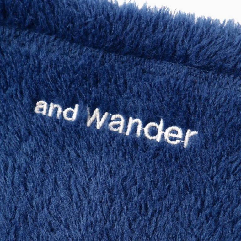 andwander(アンドワンダー)/ハイロフトフリース ネックウォーマー/ブラック/UNISEX