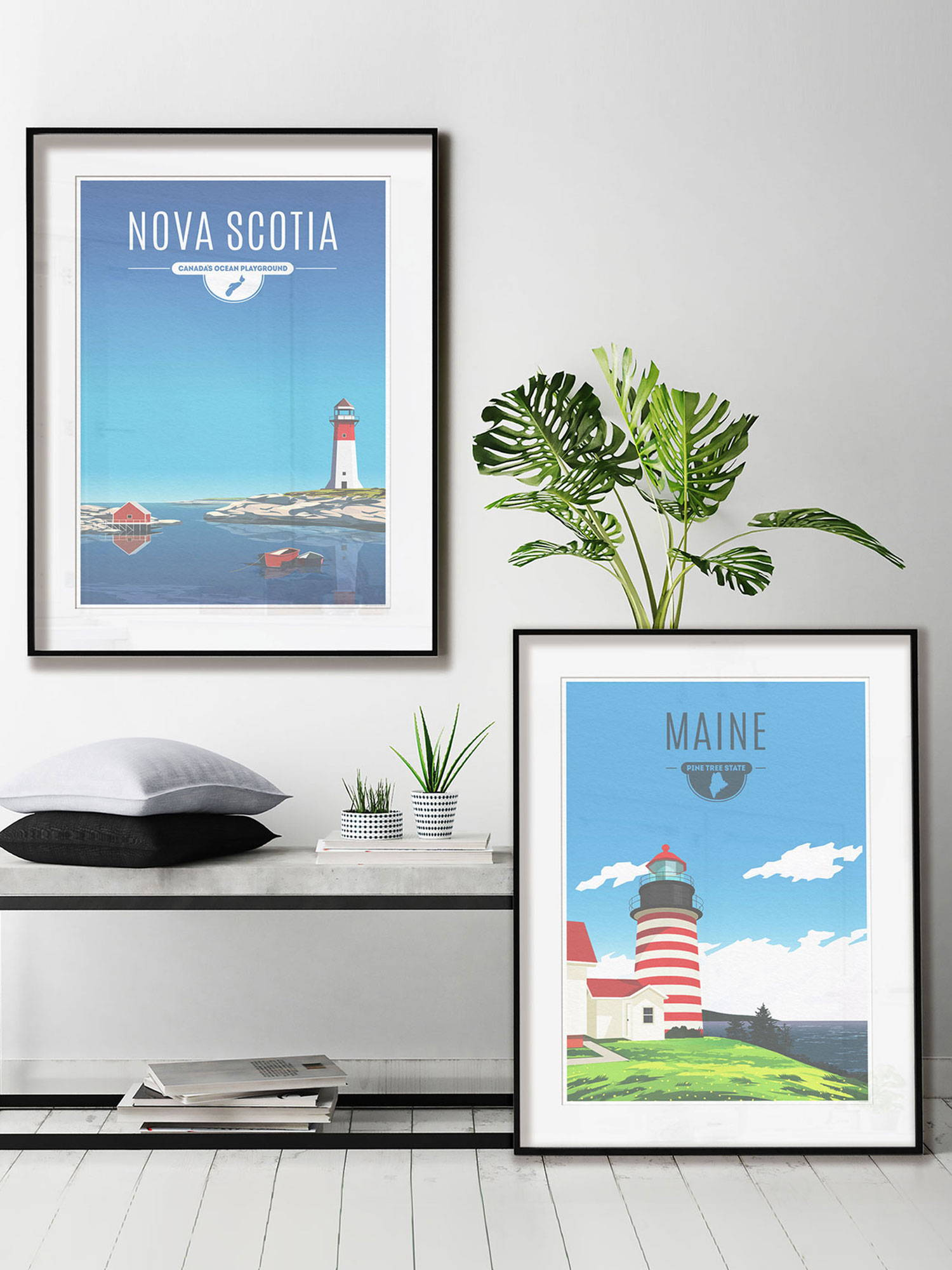 Fine art prints of the province of Nova Scotia and the state of Maine