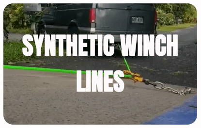 Synthetic winch lines